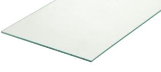 Glasplaat (blad) 200 cm
