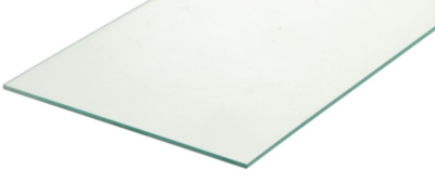 Glasplaat (blad) 250 cm