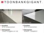 Toonbank ' T W O ' 250 cm_