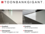 Toonbank ' B A R ' 100 cm_